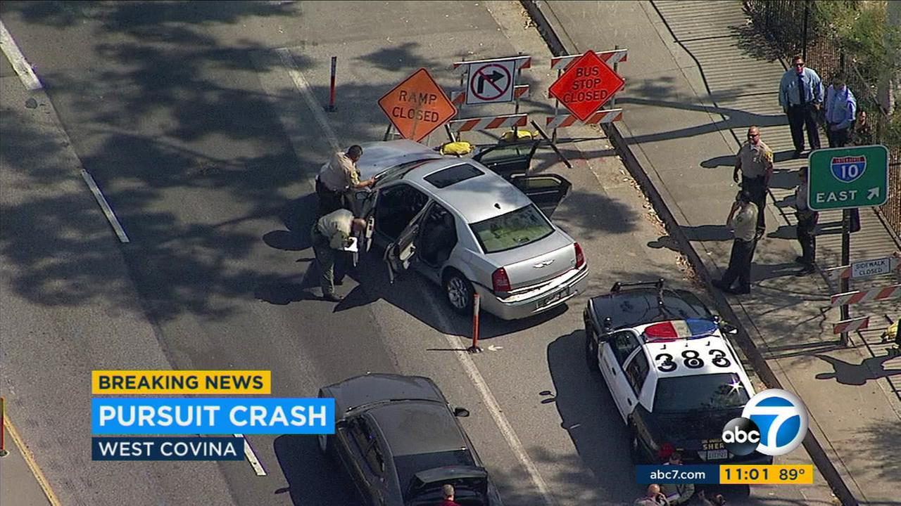 Chase, West Covina crash follow shooting at park in La Puente; 1 in custody