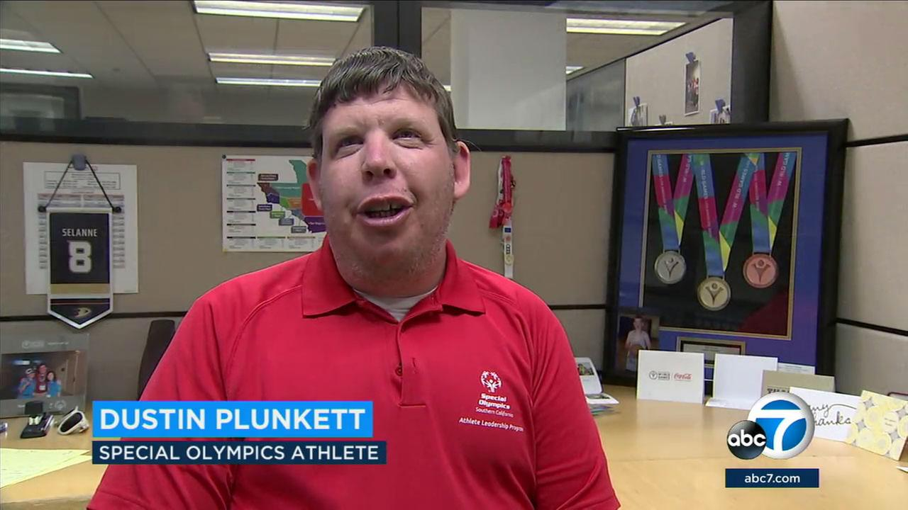 SoCal native Dustin Plunkett, involved for 21 years with the Special Olympics as an athlete and official, is being honored with an honorary ESPY.