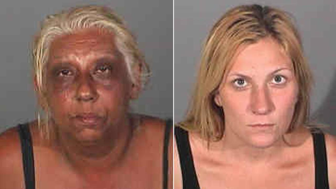 Ruby Adams, 49, left, and Andrea Miller, 28, right, are accused of burglarizing a Long Beach home on Tuesday, July 22, 2014.