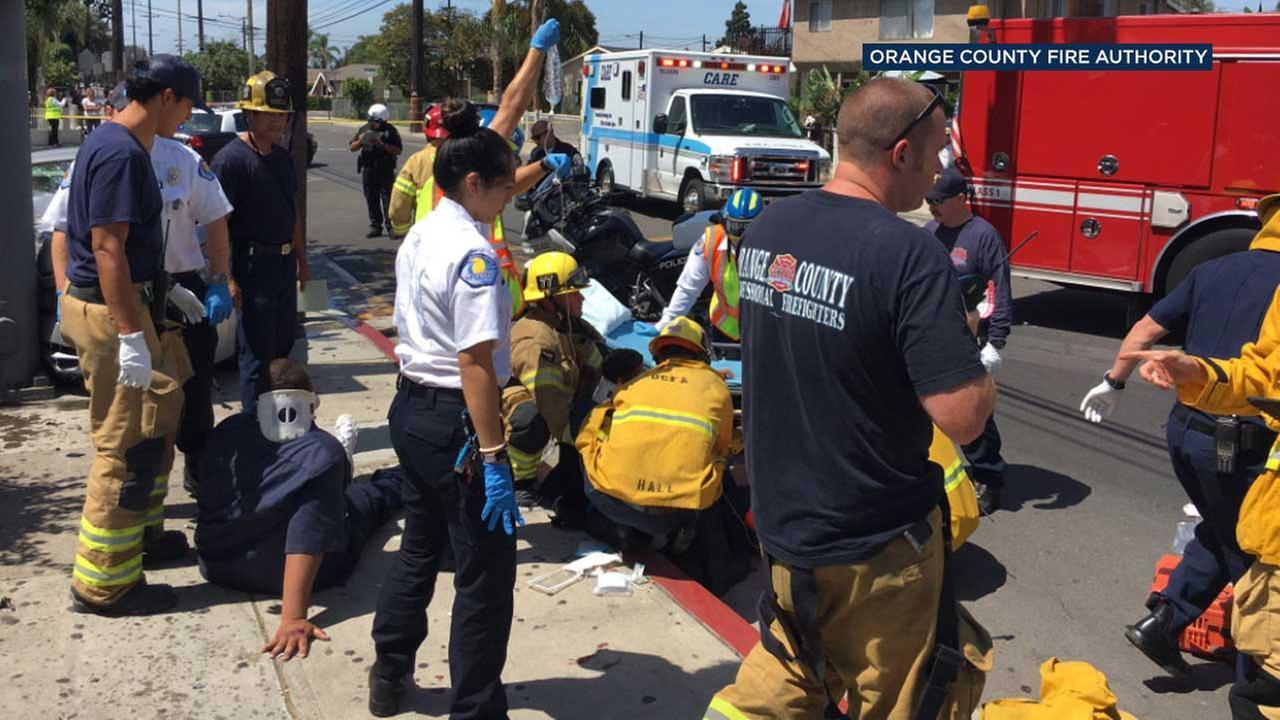 Underage DUI driver strikes pedestrians in Santa Ana, police say