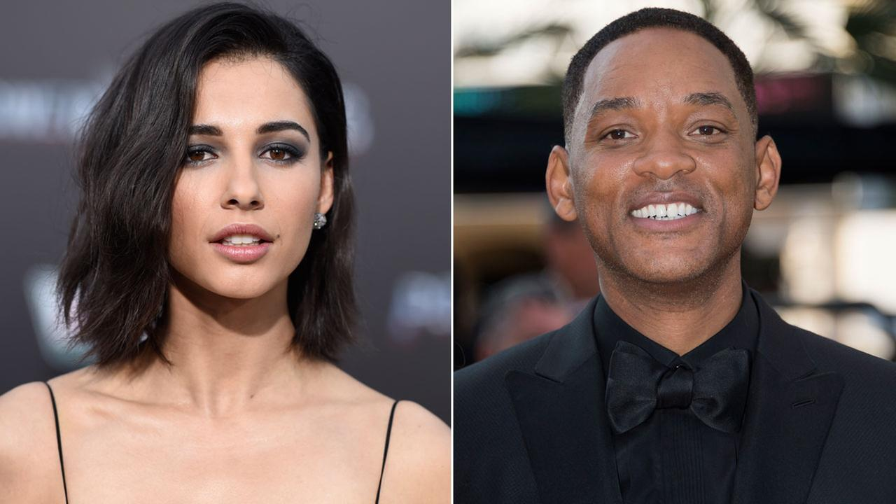 Naomi Scott (left) at a Power Rangers premiere on Wednesday, March 22, 2017. Will Smith at the 70th international film festival Cannes, southern France, Sunday, May 28, 2017.