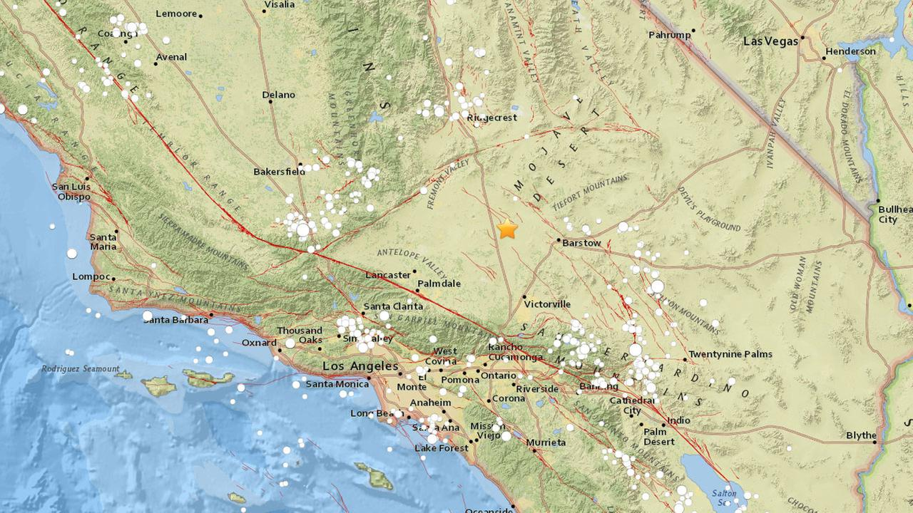 A preliminary magnitude 3.5 earthquake struck near the area of Boron in Kern County Sunday morning, according to the U.S. Geological Survey.