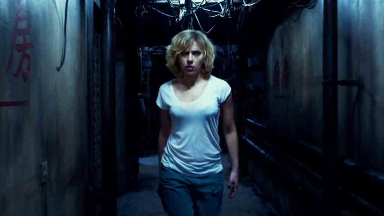 This photo released by Universal Pictures shows Scarlett Johansson as Lucy in a scene from the film, Lucy.
