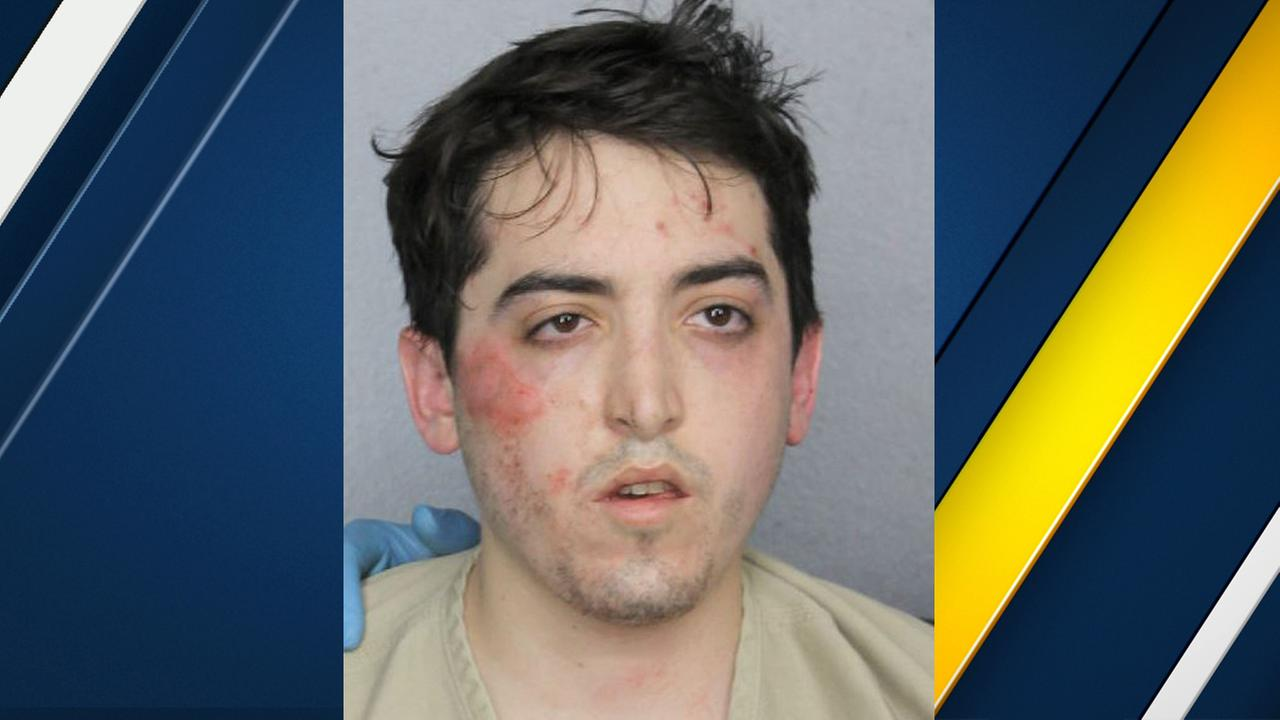 This photo provided by Broward County Sheriffs Office shows Alexander Sperber. Authorities say they arrested Sperber, on Wednesday, July 26, 2017 in Fort Lauderdale, Fla.