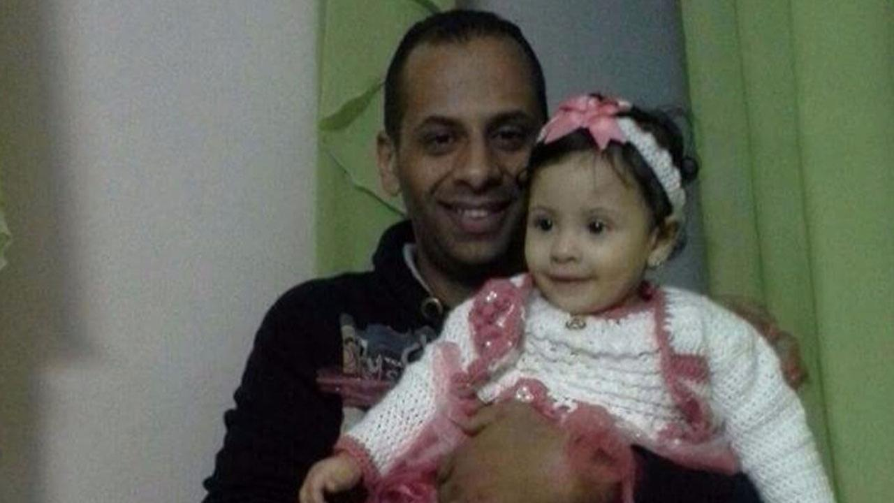 Tarek Hamed, 34, is shown with his young daughter Alia in an undated photo posted to a GoFundMe page for his funeral expenses.