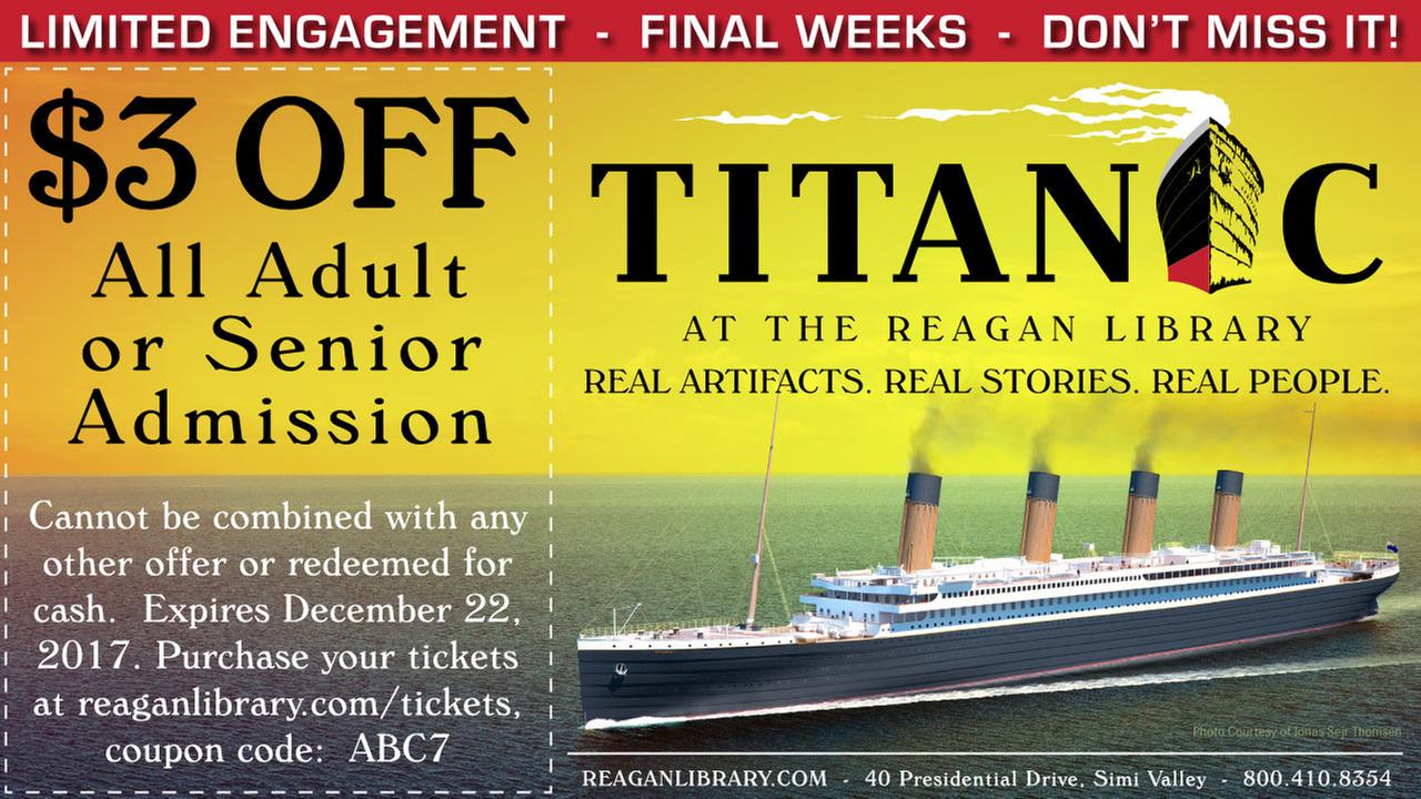 Save on tickets to TITANIC at The Reagan Library