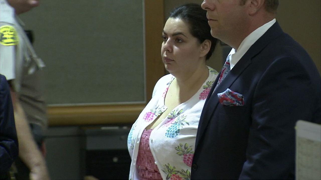 Melissa Lee is shown during a court hearing where she was ordered to pay back more than $200,000 in a fraud case.