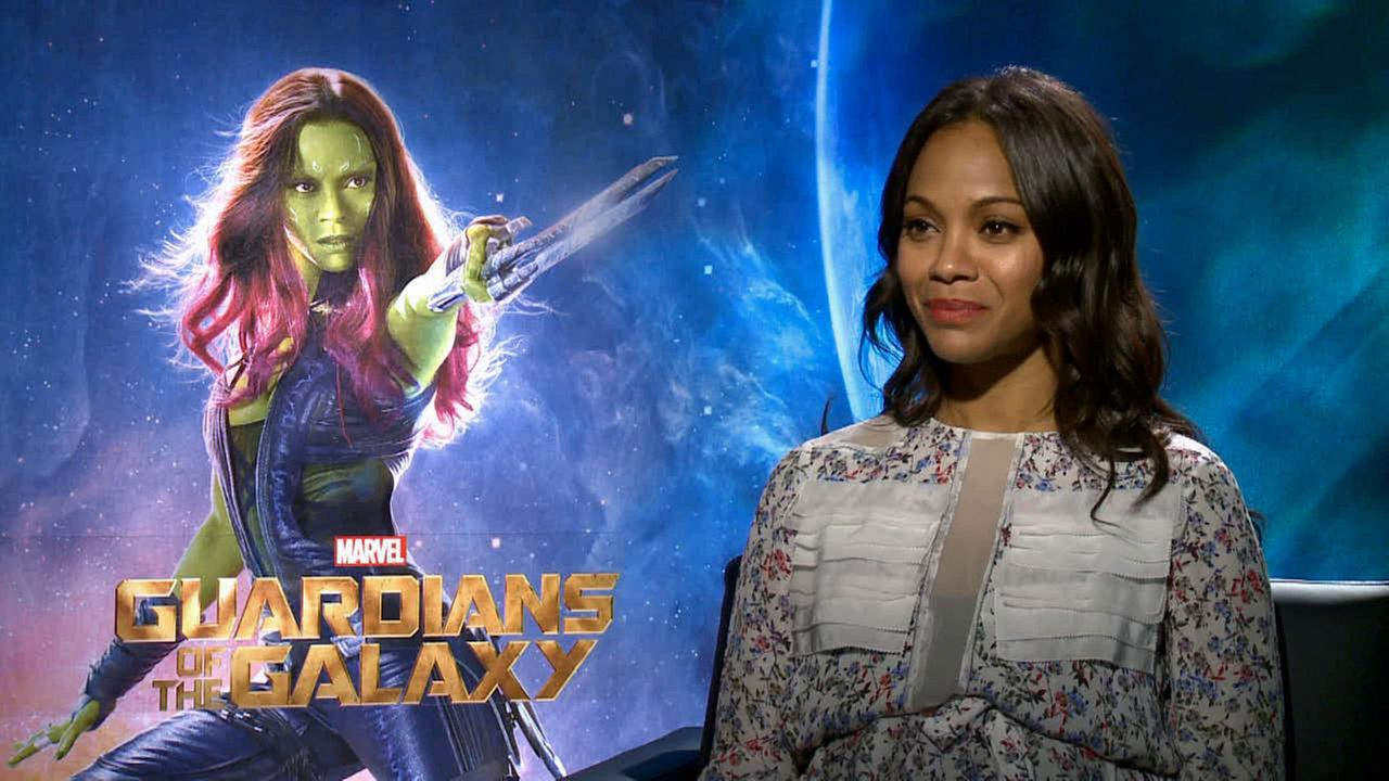 Zoe Saldana talks Guardians of the Galaxy.