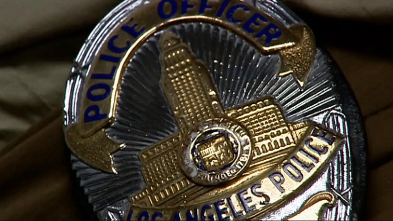 An LAPD badge is shown in this undated file photo.