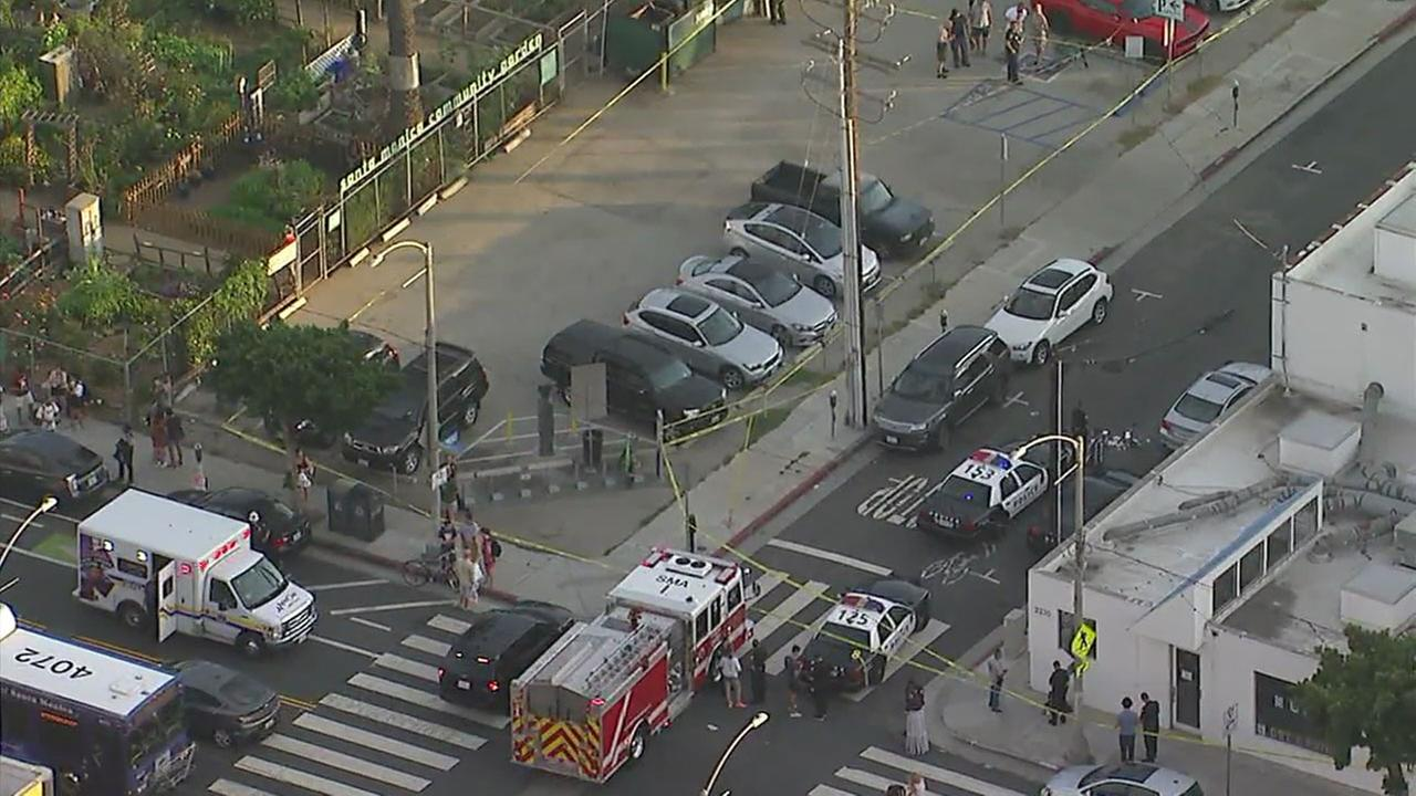 LAPD Shoots Suspect at Main and Hollister Avenue