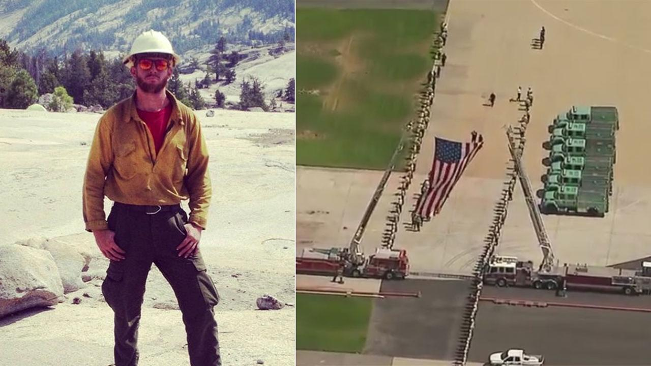 Live video of procession for fallen firefighter in Missoula