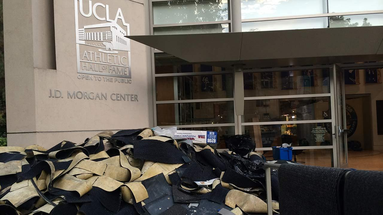 UCLAs J.D. Morgan Center sustained a lot of damage following a water-main break in Westwood on Tuesday, July 29, 2014.