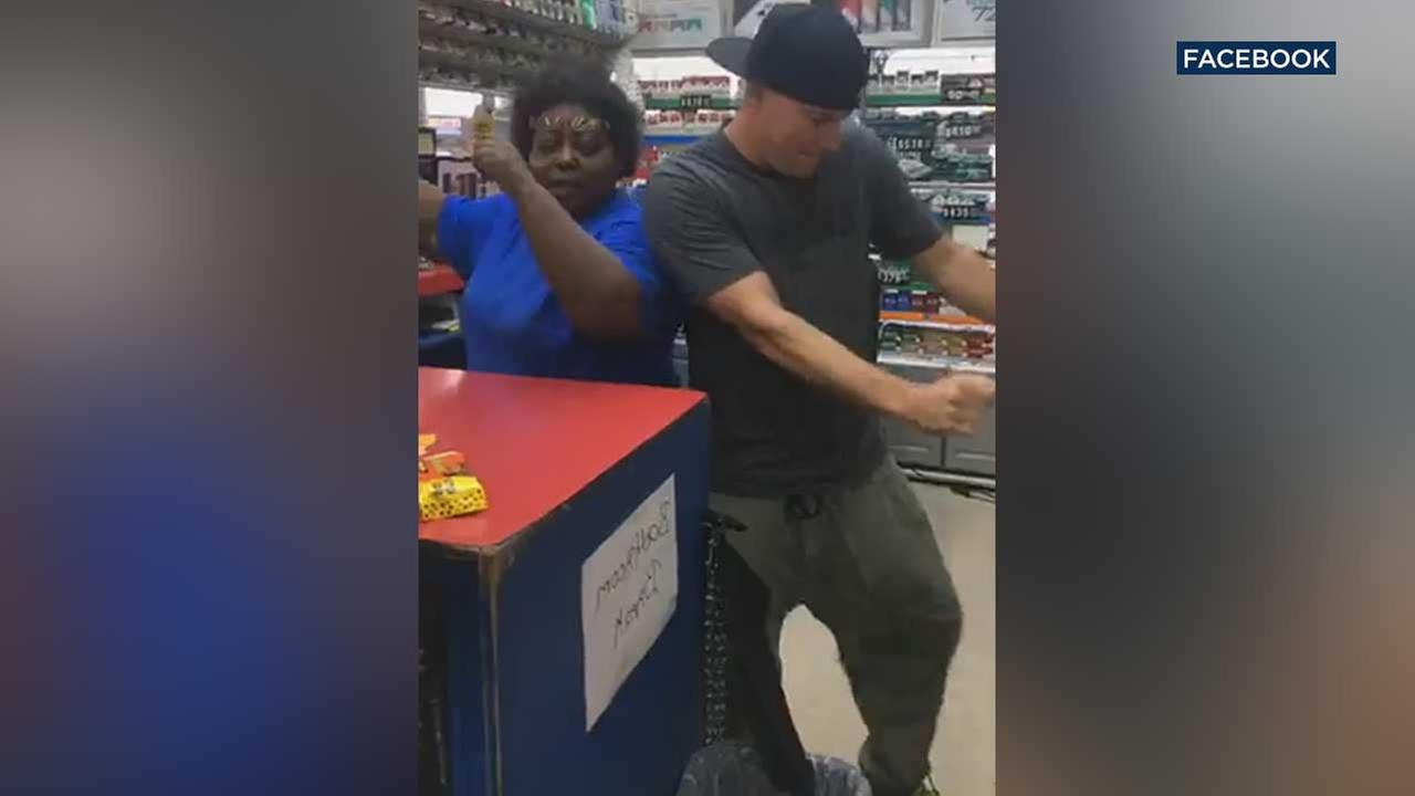 Channing Tatum made a surprise stop at a North Carolina convenience store this week, where the actor showed off some of his signature Magic Mike moves.