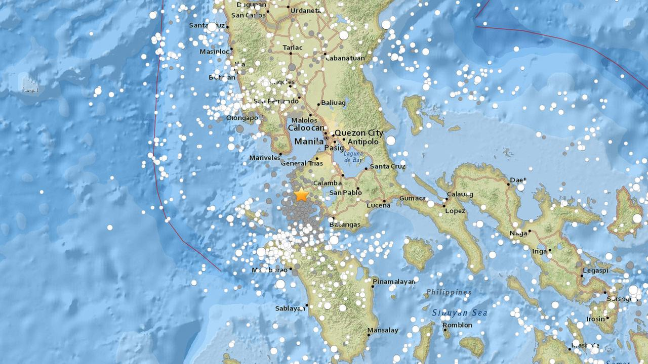 A deep earthquake of 6.2 magnitude shook off Luzon island in central Philippines, lightly felt in Manila, on Friday, Aug. 11, 2017.