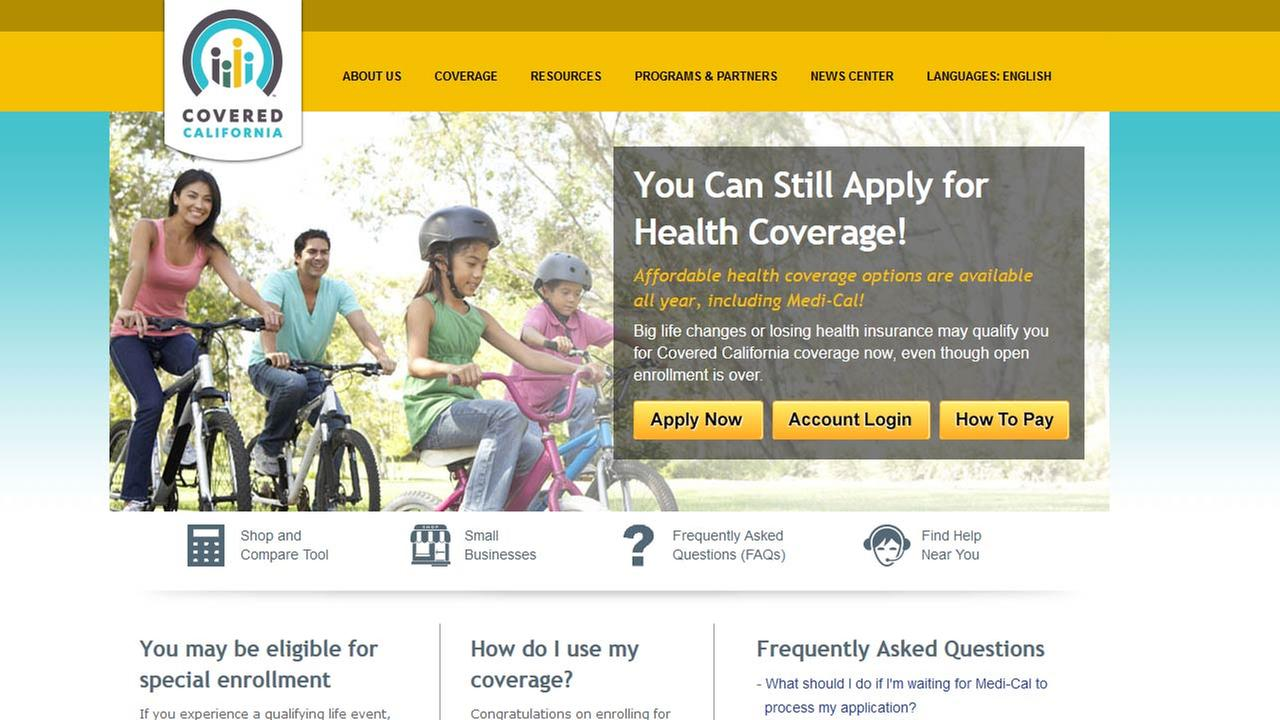 Covered California website (coveredca.com)