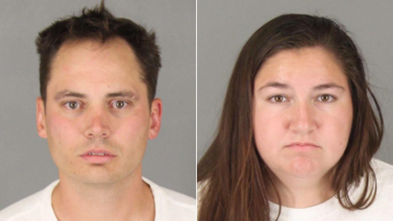 Benjamin Whitten, 33, and Jeryn Johnson, 25, both of Murrieta, are shown in mugshots.