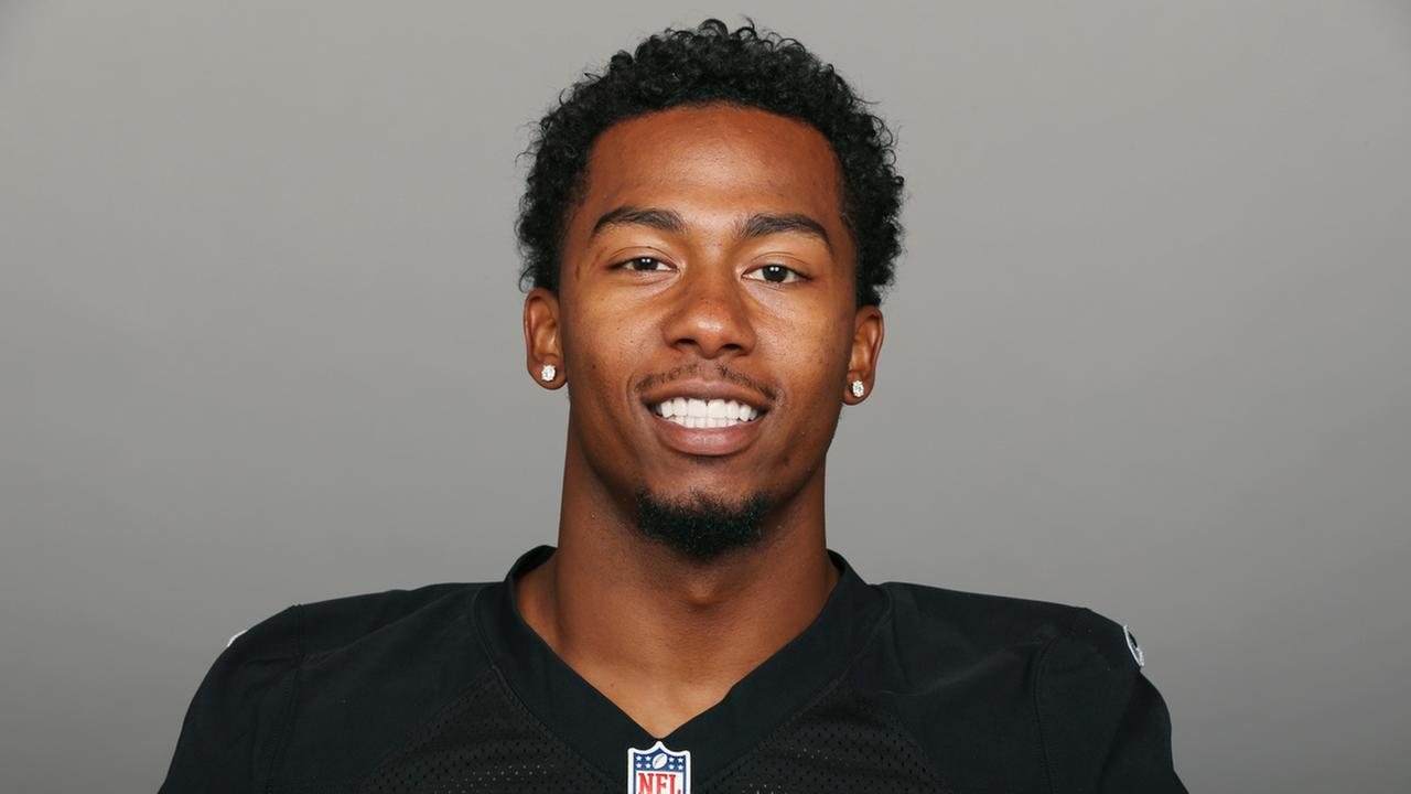 This is a photo of Sean Smith of the Oakland Raiders NFL football team. This image reflects the Oakland Raiders active roster as of Tuesday, June 27, 2017.