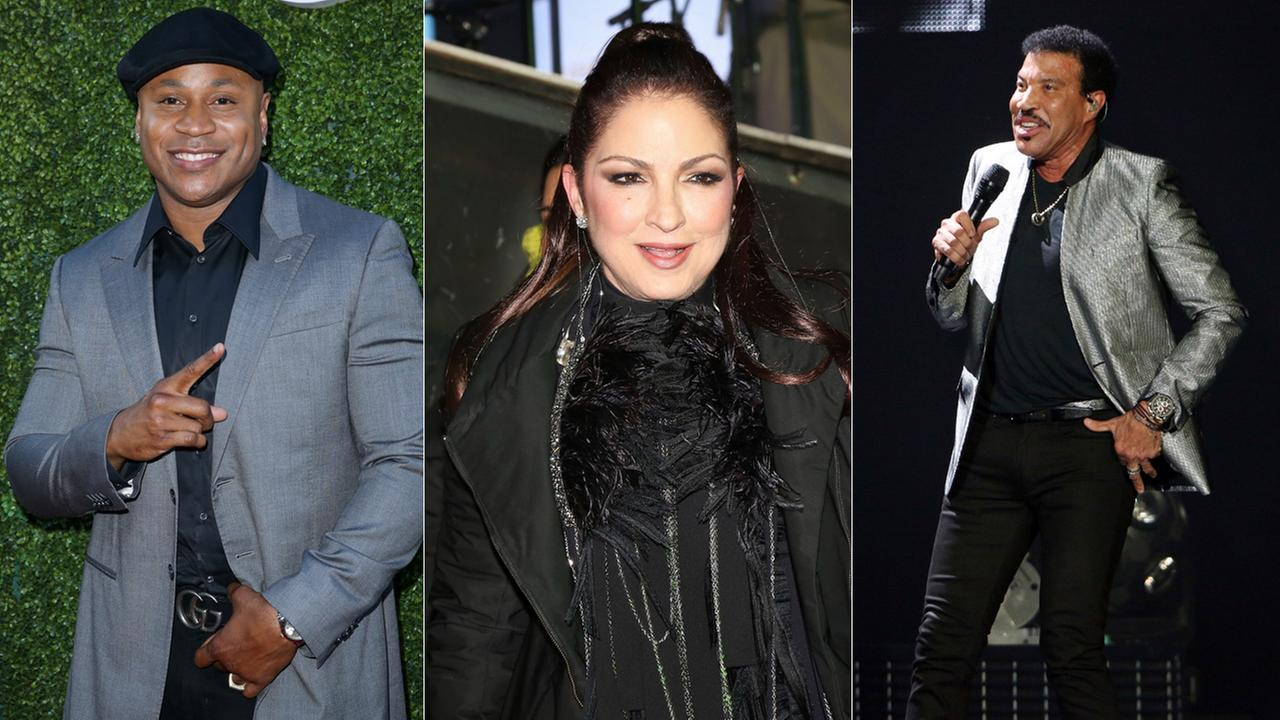 From left: LL Cool J, Gloria Estefan and Lionel Richie are set to receive awards at the Kennedy Center Honors on Dec. 3, 2017.