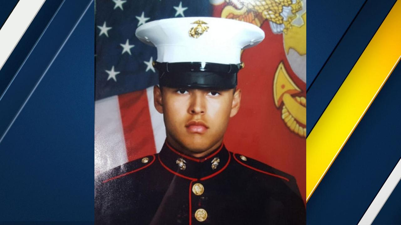 Ruben Velasco, 19, of La Puente, is shown in his U.S. Marines photo.