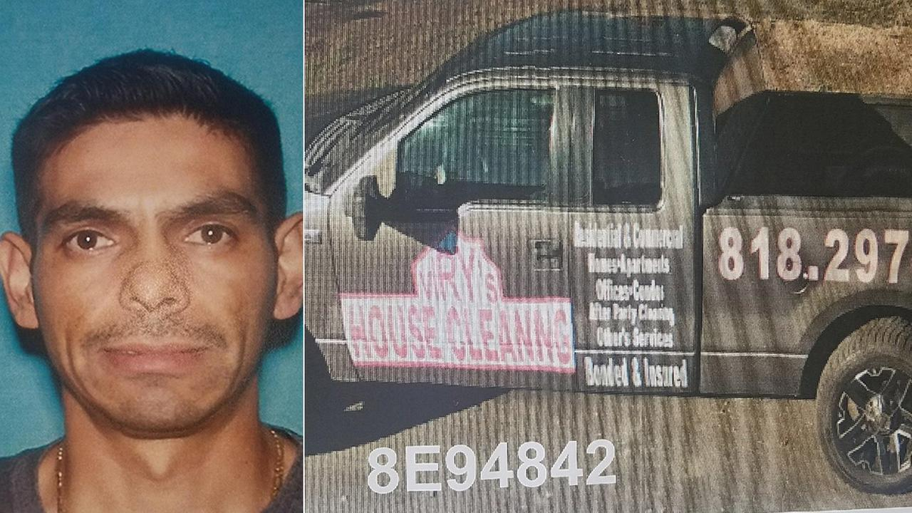 Los Angeles police released photos of Aurelio Teran and his work vehicle on Sunday, Aug. 27, 2017. Teran and the truck are being sought after he allegedly killed his wife.