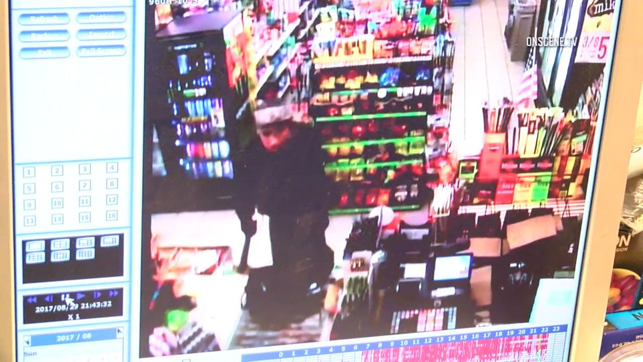 An armed suspect caught on camera attempting to rob a Westminster liquor store with a large knife in his hand on Tuesday, Aug. 29, 2017.