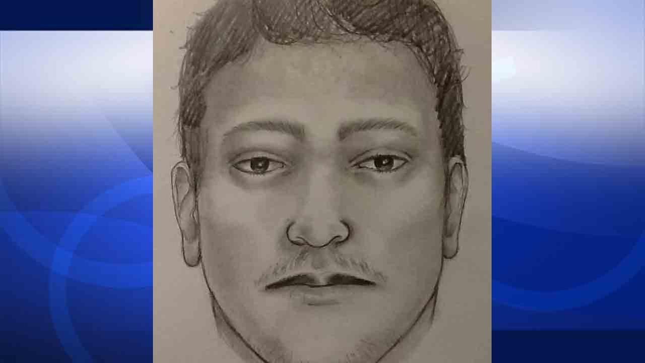 A composite sketch shows the suspect who is allegedly targeting lone females walking inside Debbs Park in the 4200 block of Monterey Road.