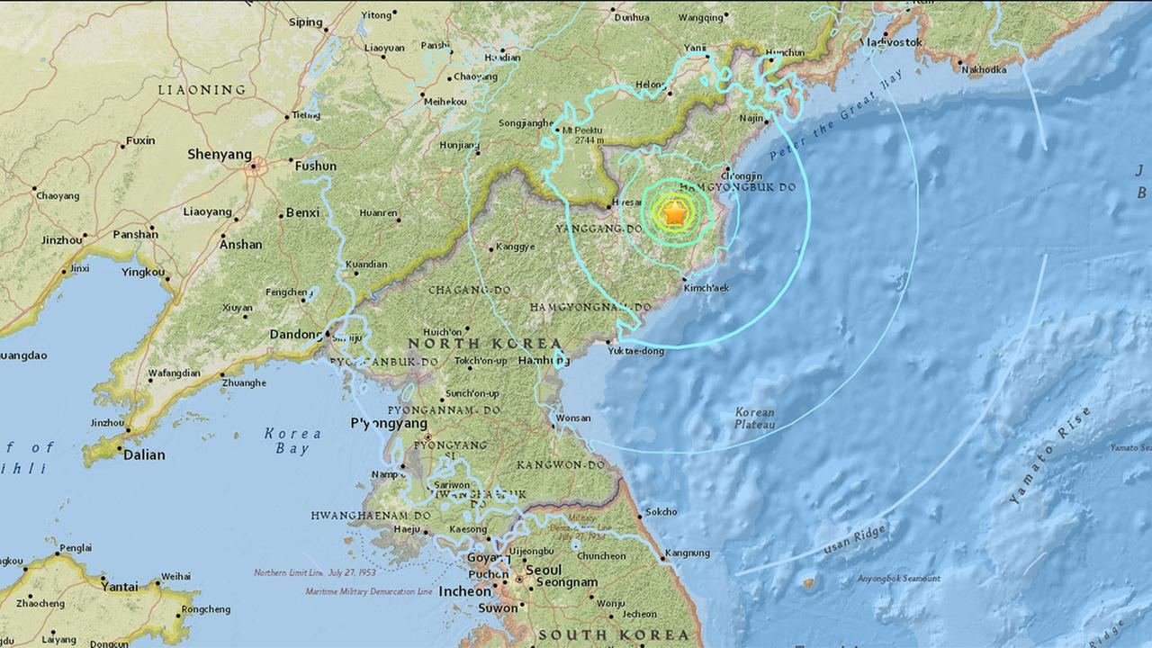 Powerful Explosion Detected In North Korea In Possible Nuclear Weapons Test