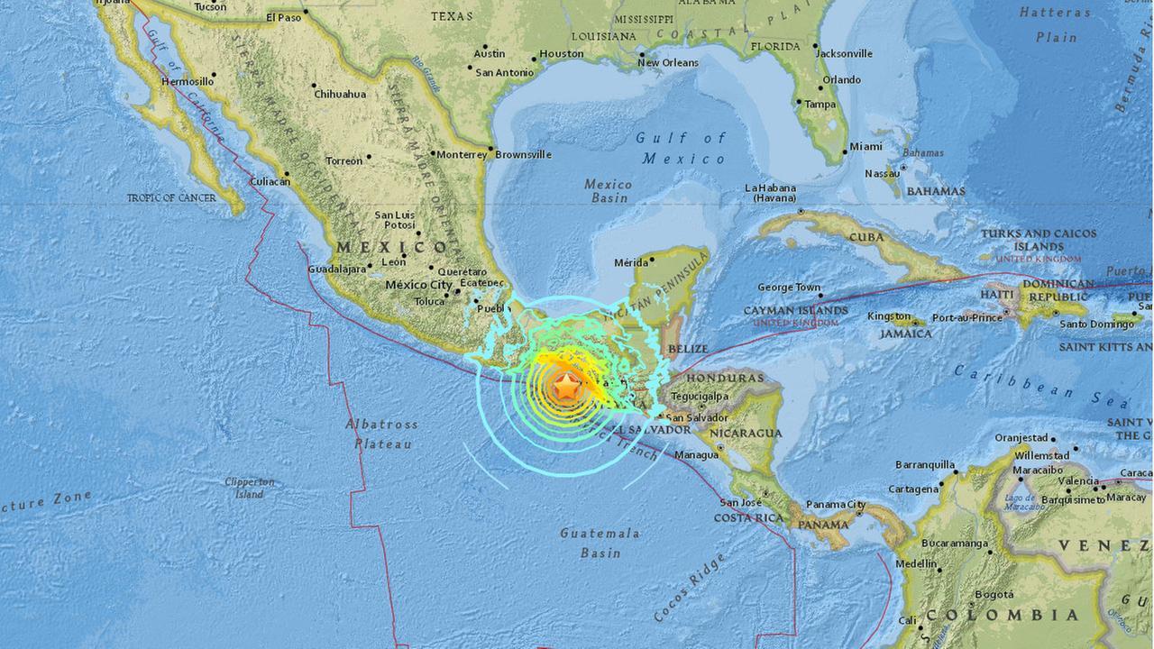 8 0 Earthquake Strikes Coast Of Mexico Abc7 Com