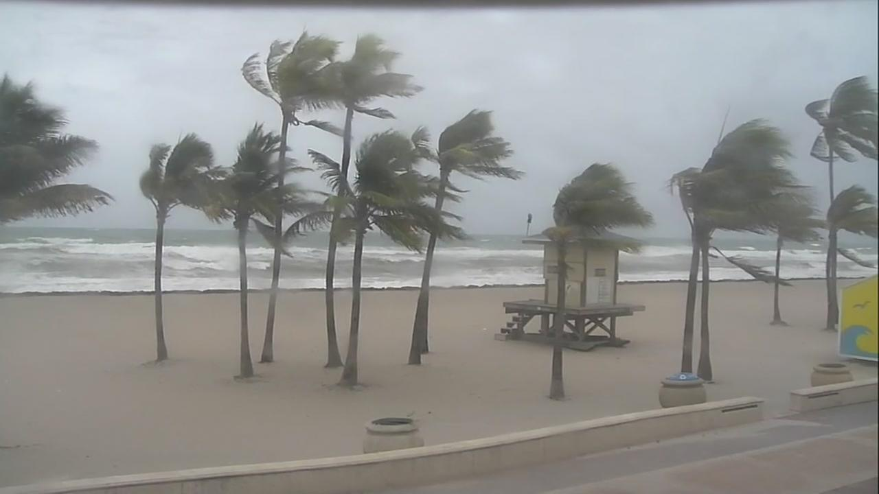 Miami Beach as Hurricane Irma approaches on Saturday, September 9, 2017.