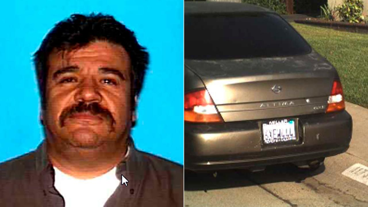 Authorities released photos of Rafael Castillo, 56, and the 1998 Nissan Altima he was believed to be driving on Tuesday, Sept. 12, 2017.
