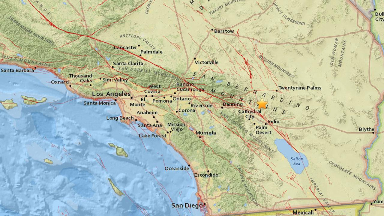 The earthquake was centered around 11.2 miles south of Joshua Tree, according to the USGS.