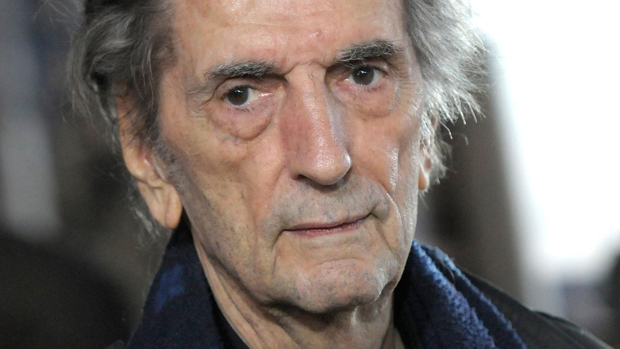 Actor Harry Dean Stanton arrives at the premiere of the animated feature film Rango in Los Angeles on Monday, February 14, 2011.