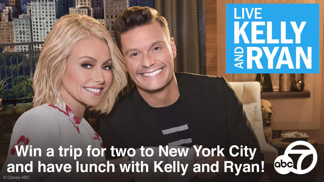 Win a hosted lunch with none other than Kelly Ripa and Ryan Seacrest!