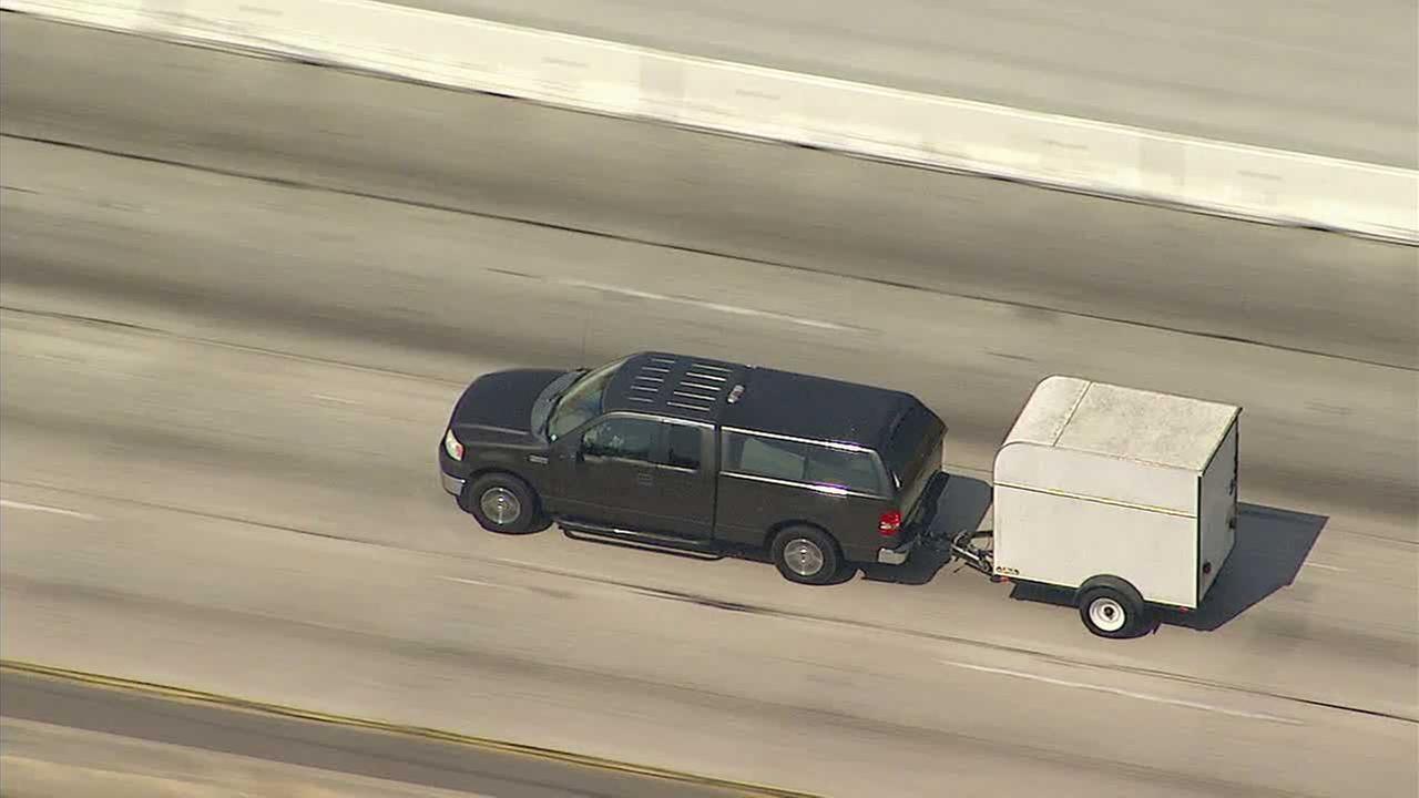 Deputies Pursue Pickup Towing Stolen Trailer From San Bernardino to Downtown LA
