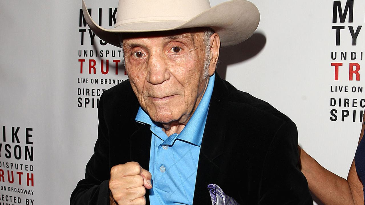 Boxer Jake LaMotta is seen at the Mike Tyson: Undisputed Truth event on Thursday, Aug 2, 2012 in New York.