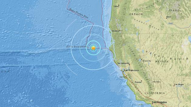 a preliminary magnitude 5 7 earthquake strikes off the coast of ferndale in northern california on friday