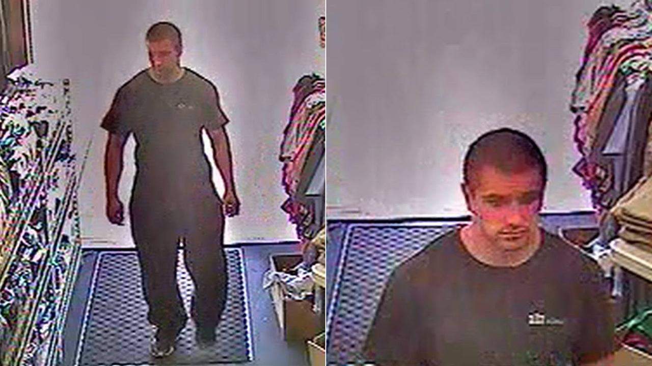 Police released these photos of a man accused of flashing a store employee in Huntington Beach on July 23, 2014.