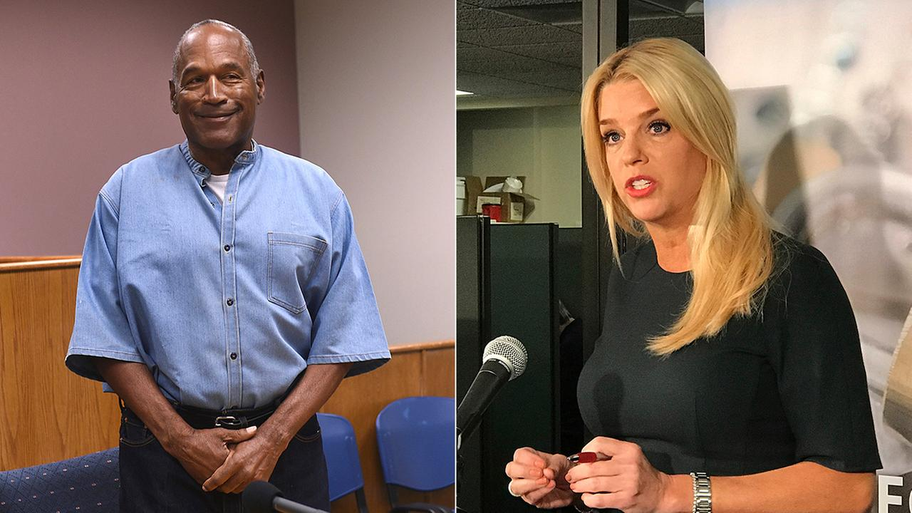 Floridas Attorney General Pam Bondi, right, doesnt want O.J. Simpson to return to Florida after hes released from prison in Nevada.