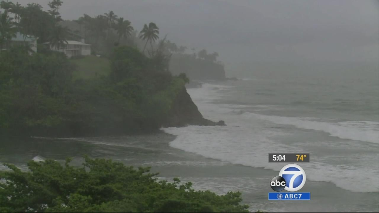 Eyewitness News reporter Jovana Lara is among those in Hawaii caught off guard by the rare hurricanes.