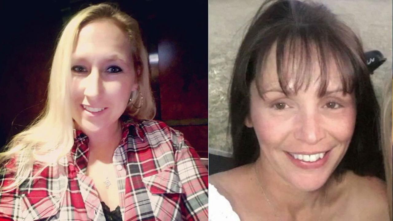 Carrie Barnette (left) and Candice Bowers are among the 58 people who were killed in Sundays massacre at the Route 91 Harvest Festival.