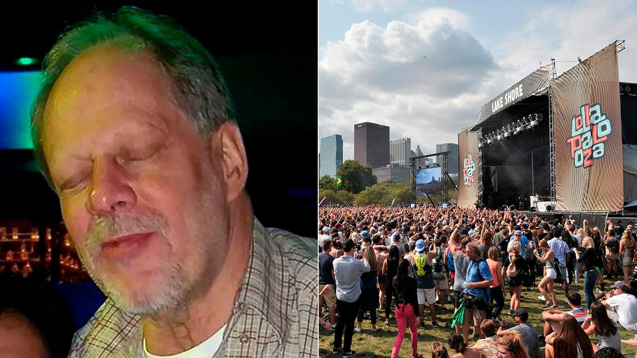 Las Vegas gunman Stephen Paddock, left, booked hotel rooms in Chicago during the Lollapalooza music festival earlier this year, sources told ABC News.