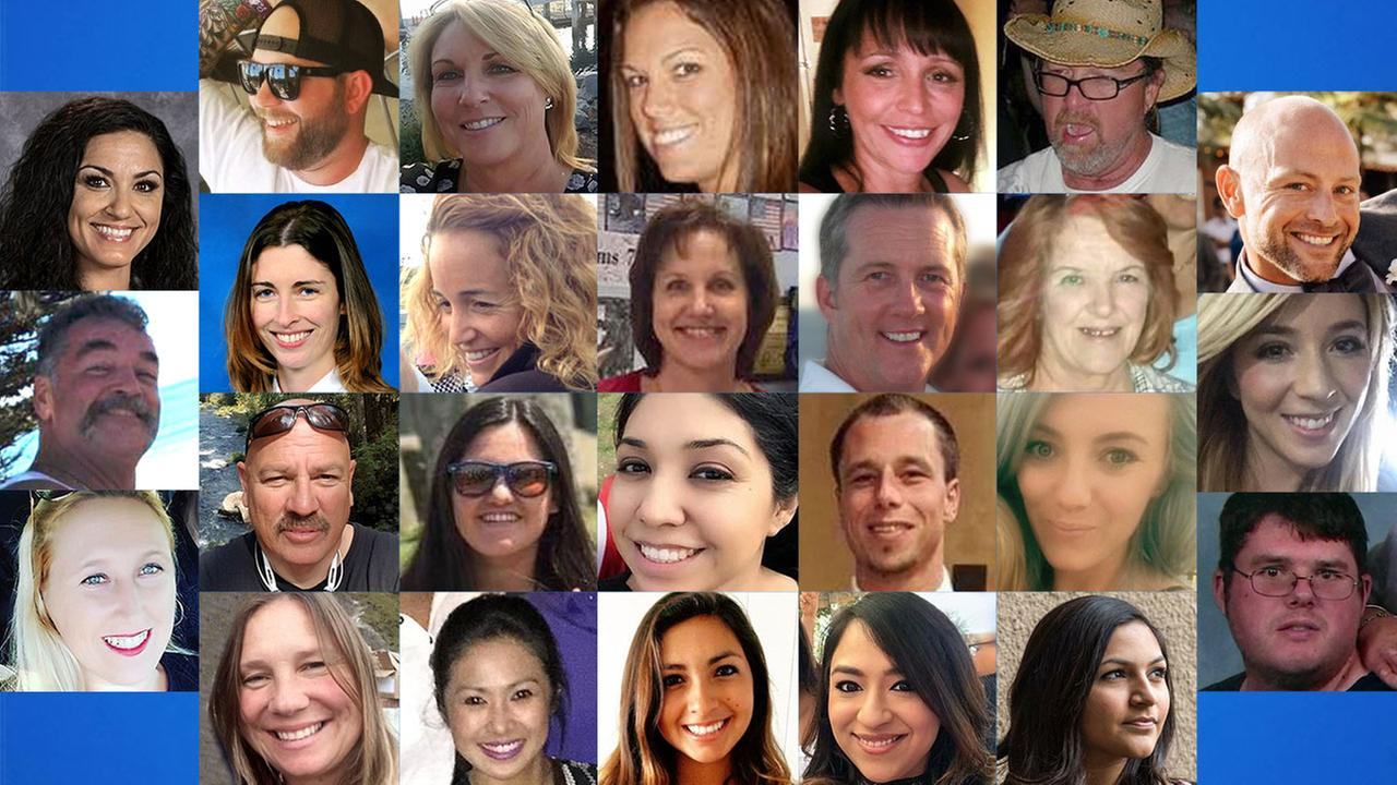 A collage of Southern California victims killed in the Las Vegas mass shooting.