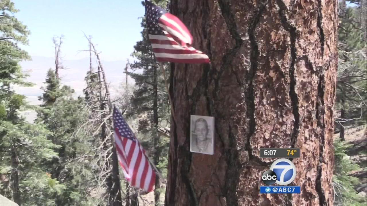 A man visited the Big Bear Lake site where his father, a Navy pilot whom he never knew, crashed 54 years ago.