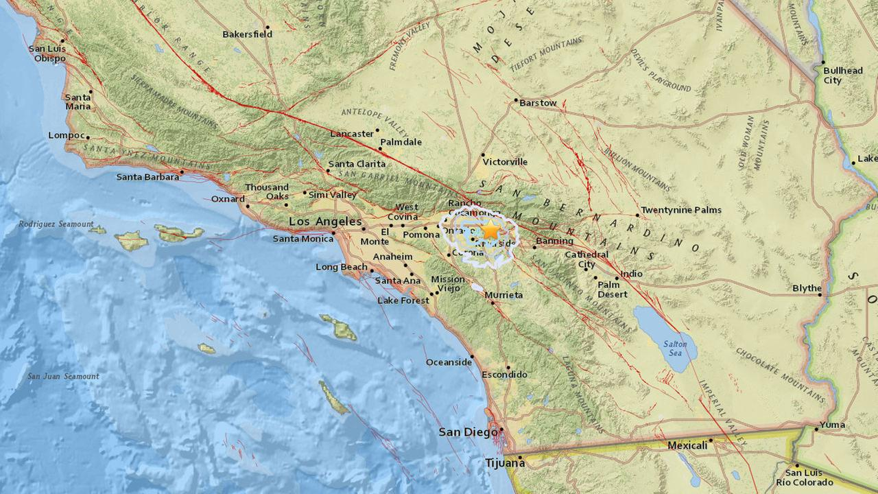 preliminary magnitude 3 1 earthquake strikes near loma linda