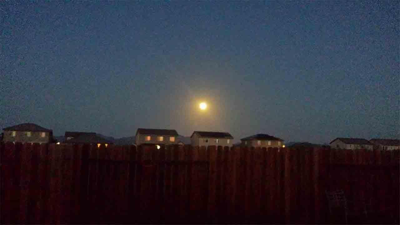 ABC7 viewer Steven Gregory shared this picture of the supermoon over Blythe, Calif. on Facebook on Sunday, Aug. 10, 2014. Steven Gregory
