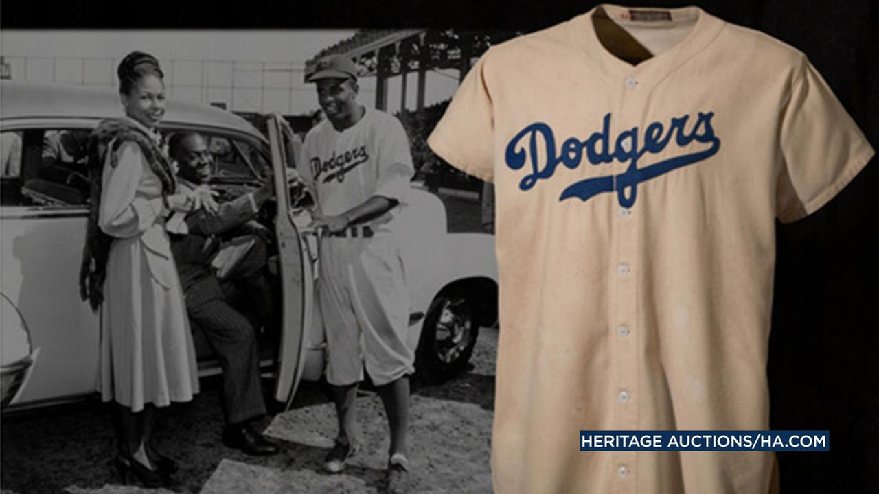 A jersey from Jackie Robinsons historic rookie season with the Brooklyn Dodgers is expected to fetch millions of dollars at an online auction that closes Nov. 19.