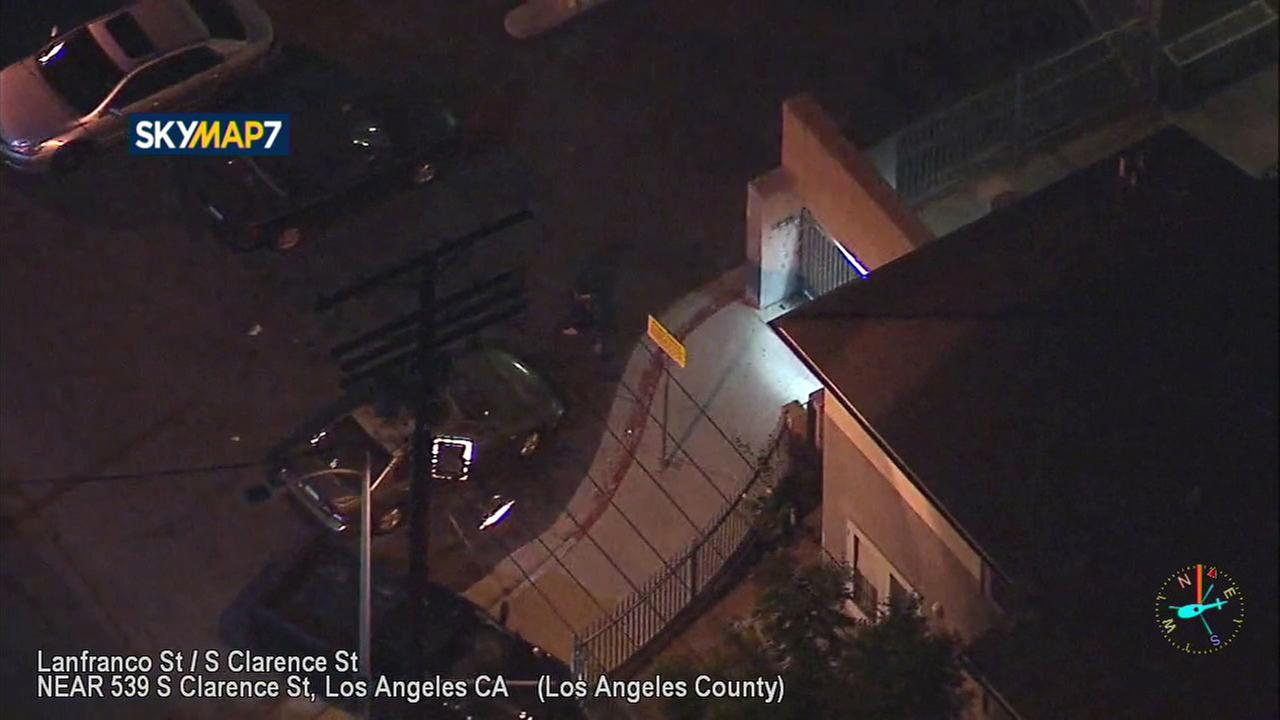 The driver of a pickup truck believed to be stolen led police on a high-speed chase through the streets of downtown Los Angeles Monday.