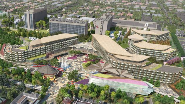 A Rendering Of The New And Unnamed Disneyland Hotel Is Shown In Downtown Disney District