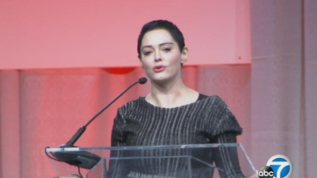 Actress Rose McGowan kicks off Womens Convention in Detroit
