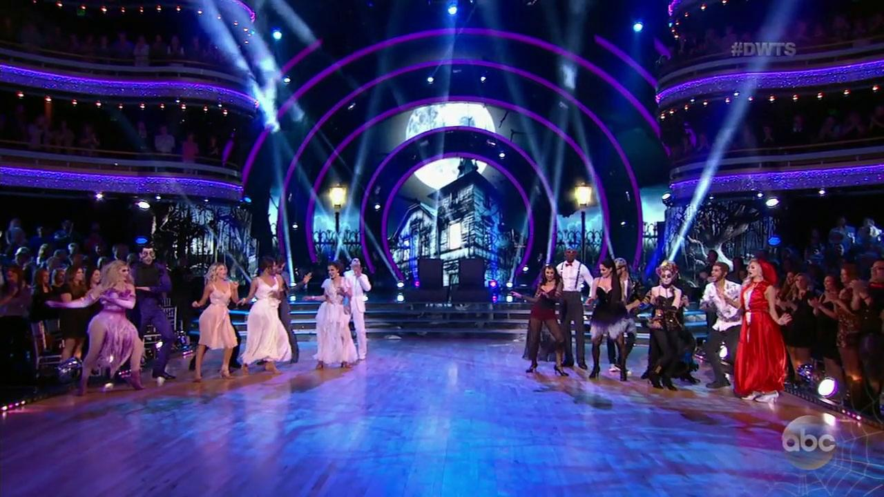 A surprise double elimination threw an extra bit of fright into Halloween Night on Dancing with the Stars.
